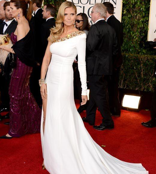 Photos: Golden Globes 2013 red carpet arrivals: Heidi Klum