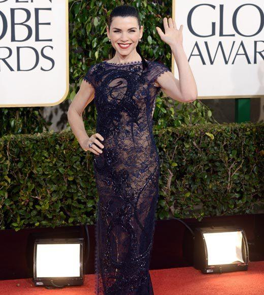 Photos: Golden Globes 2013 red carpet arrivals: Julianna Margulies