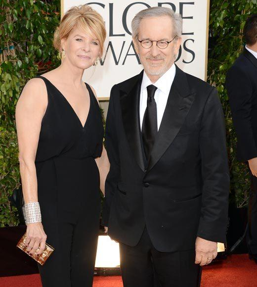 Photos: Golden Globes 2013 red carpet arrivals: Kate Capshaw and Steven Spielberg