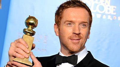 "Damian Lewis won for performance by an actor in a dramatic television series for ""Homeland."""