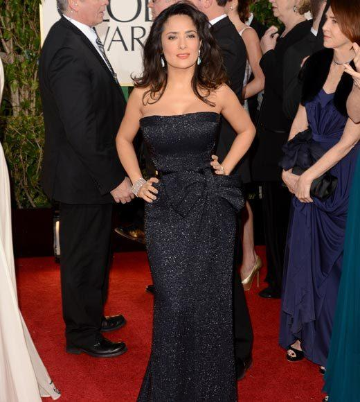 Photos: Golden Globes 2013 red carpet arrivals: Salma Hayek