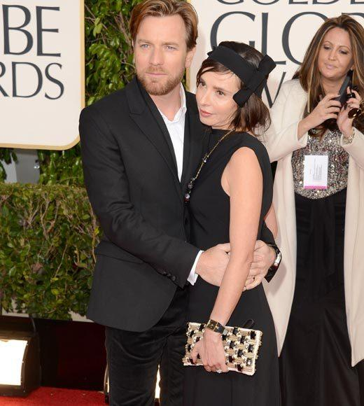 Photos: Golden Globes 2013 red carpet arrivals: Ewan McGregor and Eva Mavrakis