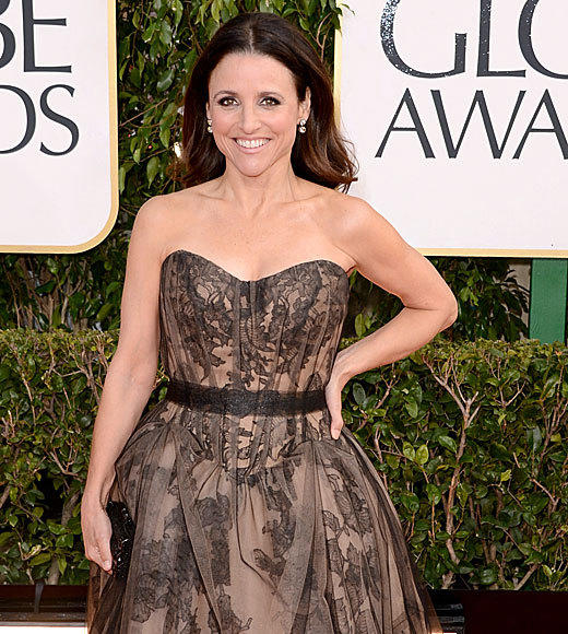 Golden Globes 2013: Best and worst moments: It may have been Julia Louis-Dreyfus 52nd birthday, but we were the ones who got the presents: her interesting and lovely dress, her insistence that shes not going to win and being cool about her birthday present from E!   -- Laurel Brown, Zap2it