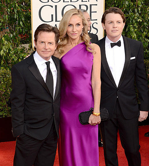 "Sam, the son of Michael J. Fox, came to the Golden Globe Awards to be Mr. Golden Globe. The young man looks an awful lot like his famous father, which should make for some double-takes throughout the night. <br><br> <i>-- <a href=""http://twitter.com/really_mzungu"">Laurel Brown</a>, <a href=""http://www/zap2it.com"">Zap2it</a></i>"