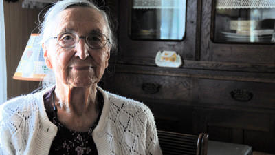 Freda Maust, Springs, sits by the window in the home she has lived in her whole life.