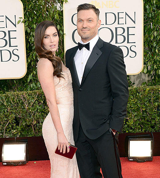 "When Seacrest asked about Megan Fox's dress, she said ""It's lacy. It's tight. That's all there is to it."" When he asked about her husband Brian Austin Green's tux, she revealed that he's worn the same one to every event for four years. We're pretty sure they just wanted to get inside where the booze is ASAP. <br><br> <i>-- <a href=""http://www.twitter.com/cadlymack"">Carina Adly MacKenzie</a>, <a href=""http://www.zap2it.com"">Zap2it</a></i>"