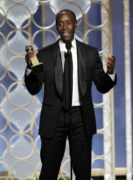 "Don Cheadle accepts the award for lead actor in a TV comedy for his role in ""House of Lies.""<br><br> ""I'm very proud of this show,"" Cheadle said, thanking his costars and the show's writing team."