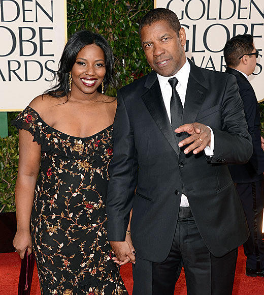 Golden Globes 2013: Best and worst moments: Denzel Washington, nominated this year for Flight, had a very special date: His 21-year-old daughter Olivia, who is studying acting in New York. This is her first red-carpet date, Washington told Matt Lauer and Savannah Guthrie. When the hosts asked Olivia about her dad, she told them hes the biggest nerd. Its all coming out! Washington laughed.   -- Geoff Berkshire, Zap2it