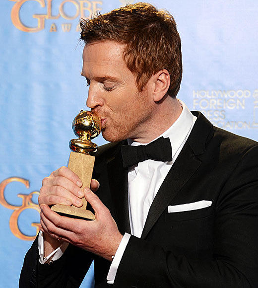 Golden Globes 2013: Best and worst moments: Homeland star Damian Lewis dedicated his best actor trophy to his late mother, who I know is up there looking down on me, bursting with pride and telling everyone out there all around her how well her son is doing in acting. Mum, I love you. Aww.   --Drusilla Moorhouse, Zap2it