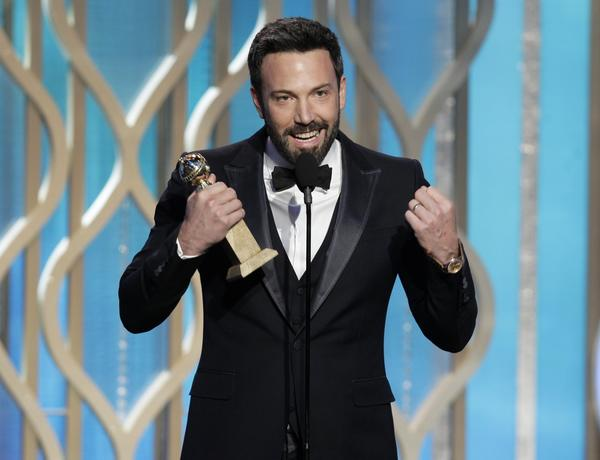 "Ben Affleck accepts the best director award for ""Argo.""<br><br> ""I don't care what the award is, but when they put your name next to the names she read off that list, it's an extraordinary thing in your life,"" Affleck said, praising fellow nominees Kathryn Bigelow, Ang Lee, Steven Spielberg and Quentin Tarantino."