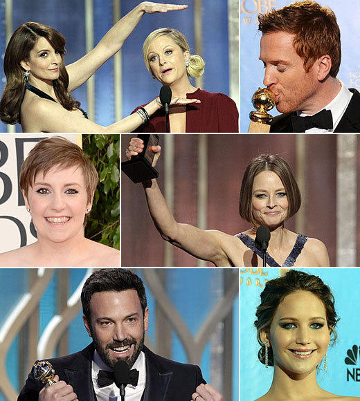 Golden Globes 2013: Best and worst moments: Tina Fey and Amy Poehler killed it, Homeland and Girls ruled and Ben Affleck scored big with Argo. Presenting the best and worst moments of the 2013 Golden Globe Awards.