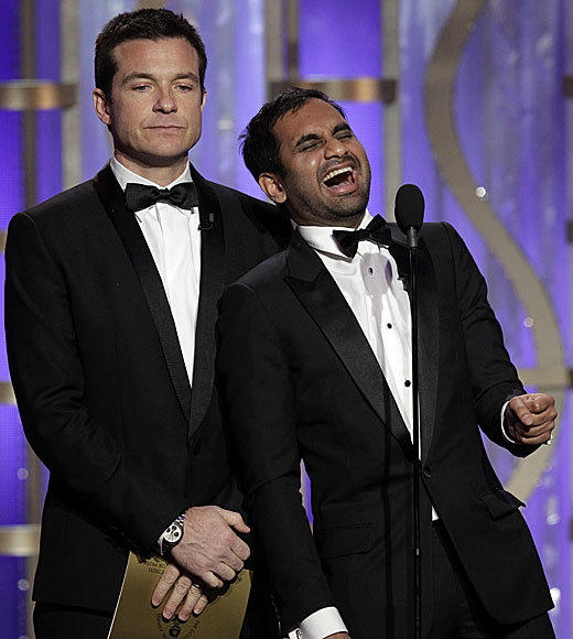 Golden Globes 2013: Best and worst moments: Two things that are always funny: Aziz Ansari and people who accidentally get high from cookies. Thanks for the LOLs, Aziz. (And he didnt even have to mention anyones up-skirt photo to get them!)  -- Carina Adly MacKenzie, Zap2it