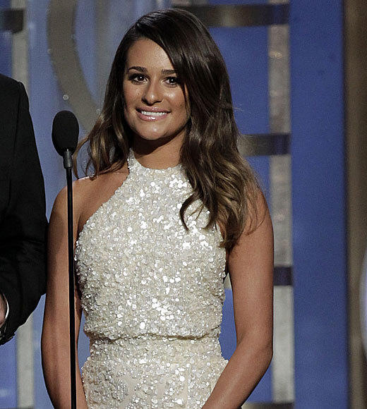 "We thought we had switched over to a ""Jersey Shore"" rerun when Lea Michele took the stage to present Claire Danes with Best Actress in a TV Drama. Note to Lea: Maybe turn the power down a notch or ten on the spray tan machine. <br><br> <i>-- <a href=""http://twitter.com/mollychance"">Molly Chance</a>, <a href=""http://www/zap2it.com"">Zap2it</a></i>"