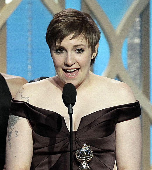 "After accepting her award for best TV comedy, Lena Dunham said, ""I promised myself that if I ever got this chance, I would thank Chad Lowe."" Why? Because Hillary Swank didn't. Lowe got back to her quickly -- ""YOU COMPLETE ME,"" he tweeted after her speech. <br><br> <i>-- <a href=""http://www.twitter.com/cadlymack"">Carina Adly MacKenzie</a>, <a href=""http://www.zap2it.com"">Zap2it</a></i>"
