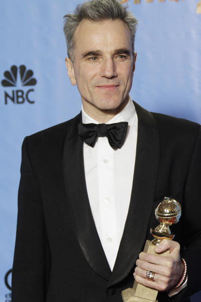"Daniel Day-Lewis has a reputation for a certain shyness before the press, but he was downright loquacious backstage after winning the award for actor in a drama, for his role in ""Lincoln.""