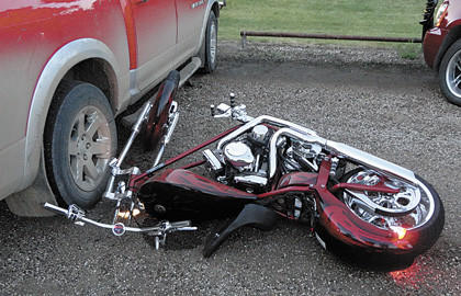 On July 19, Cameron Wyly was forced to lay his motorcycle down to avoid a collision after another vehicle ran a stop light. Wyly slid into a parked pickup truck, sustaining injuries in a case that has yet to be closed.
