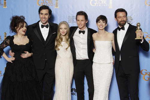 "<h3>Wins:</h3><br> <ul class=""unstyled"" id=""emmy-wins"">          <li>Actor: Hugh Jackman</li>         <li>Supporting actress: Anne Hathaway</li>         <li>Best picture: Comedy or musical</li> </ul> <br> <h3>Nominations:</h3><br> <ul class=""unstyled"" id=""emmy-nominations""> <li>Best picture: Comedy or musical</li> <li>Actor: Hugh Jackman</li> <li>Supporting actress: Anne Hathaway</li> <li>Original song: ""Suddenly,"" Music by: Claude-Michel Schonberg.</li>  </ul>"