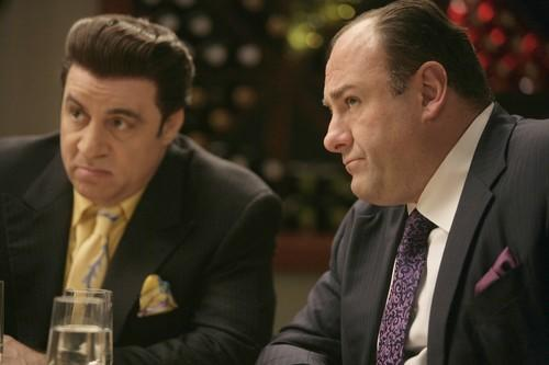 Steven Van Zandt, left, and James Gandolfini helped make mob stories fashionable.