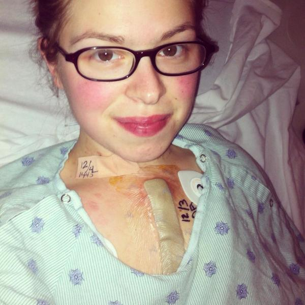 Ashley Shepherd, 20, is seen here after undergoing a December heart transplant.