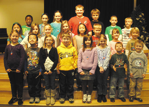 Rockland Woods Elementary School named its Citizens of the Month for December. Front row, from left, Suzanne Mitchell, Cassius Freeman, Caylee Carter, Eric Heller, Elizabeth Lewis, Balanna Crabill, Kyle Bjerklie and Benjamin Beckett. Middle row, Everly Harsh, Delia Riss, Audrey Slocum, Mackenzie Fritz, Patrina Punchasutthi, Scott Click, Calleigh Matthew and Hudson Douglass. Back row, Jared Alston, Megan Stauch, Bryson Ostrum, Brandon Roberts, Jaden Miller, Aiden Schwartz and Graydon Munn. Not pictured: Thea Bowers, Connor Leavens, London Holly and Michael Palmer.