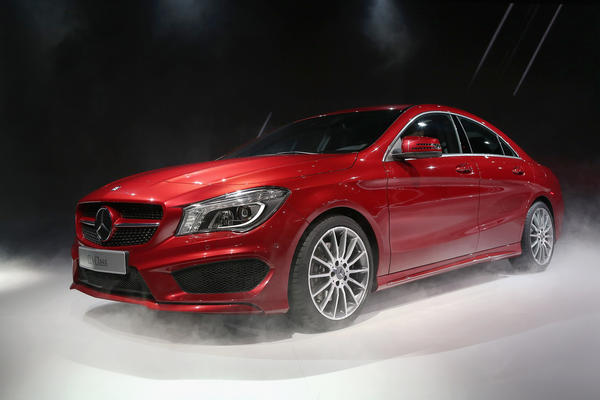 Mercedes-Benz introduces the 2014 CLA at the 2013 North American International Auto Show in Detroit, Michigan.