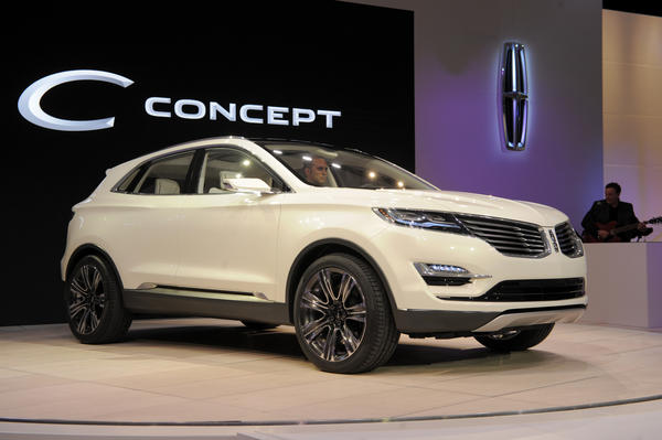 The 2014 Lincoln MKC Concept cross-over SUV is introduced at the 2013 North American International Auto Show in Detroit, Michigan.