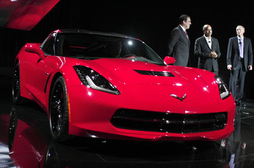 Chevrolet unveils the new Corvette C7 at the 2013 Detroit Auto Show.