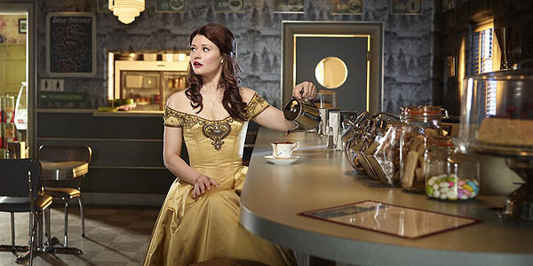 "Emilie de Ravin as Belle in ""Once Upon a Time."""