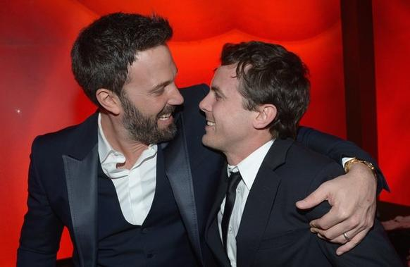 Director and actor Ben Affleck with his brother, actor Casey Affleck.