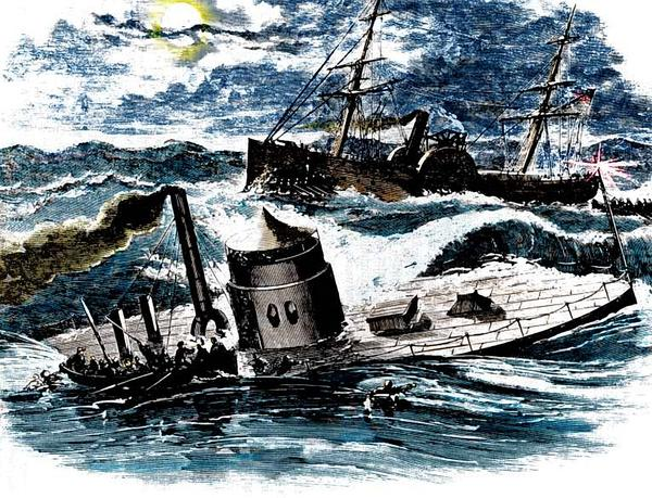 The USS Monitor sank off Cape Hatteras, N.C., in a Dec. 31, 1862 storm. Sixteen crewmen perished, including several lost in a valiant rescue effort.