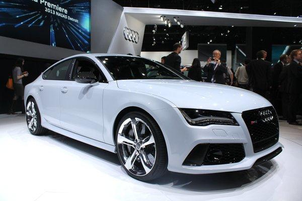 Audi unveiled the 560-horsepower RS7, a four-door coupe it says will do zero-60 mph in 3.7 seconds.