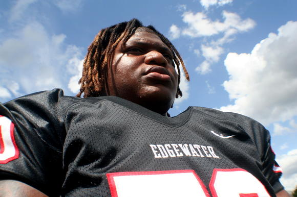 Darius Tolbert, DT, Edgewater, photo