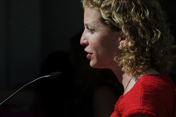 Representative Debbie Wasserman Schultz (Broward) speaks after being sworn in to the United States House of Representatives.