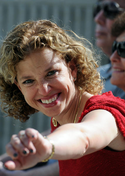 Representative Debbie Wasserman Schultz (Broward) was all smiles at her swearing-in ceremony to the United States House of Representatives.