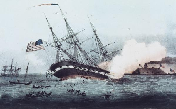 The CSS Virginia, also known as the Merrimack, wreaked havoc on the Union fleet when it emerged from the Elizabeth River on March 8, 1861 for the first day of the historic Battle of Hampton Roads.