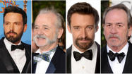 One of the most noticeable men's trends at Sunday night's 2013 Golden Globes was the abundance of facial hair, from presenter Jeremy Renner's barely there smudge of a 'stache to Bill Murray's full-walrus mustache with connected sideburns.