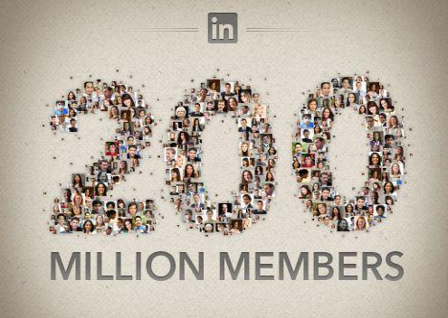 LinkedIn now has 200 million registered members. Of those, 160 million are monthly active users.