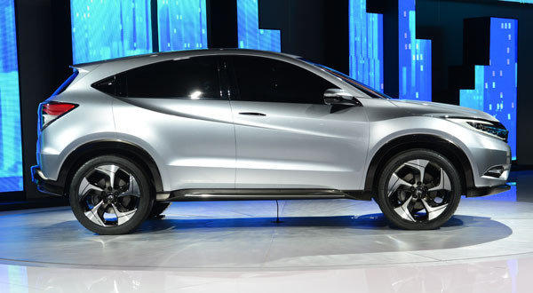 The Honda Urban SUV concept car is introduced at the 2013 North American International Auto Show in Detroit, Michigan.