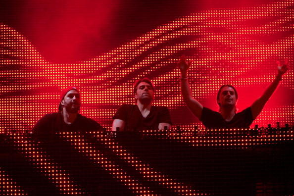Steve Angello, Sebastian Ingrosso and Axwell of Swedish House Mafia perform on stage during Rock in Rio Madrid 2012 on July 5, 2012 in Arganda del Rey, Spain. (Photo by C via Getty Images)