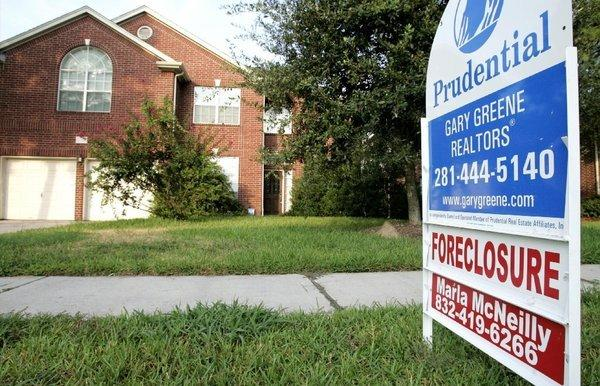 A foreclosed home is up for sale in Spring, Texas.