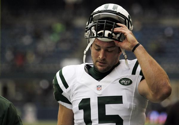 Tim Tebow was traded by Denver to the New York Jets during last off-season, which might be why his brother was so happy when the Broncos were knocked out of the playoffs this past weekend.