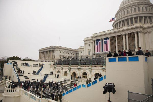 A dress rehearsal for the inauguration takes place on Capitol Hill a week before President Obama is sworn in for his second term.