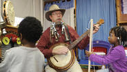 Slim Harrison visits Howard County's Tubman Head Start Center with musical instruments that many preschoolers have never seen, and he brings tales and songs many have never heard.