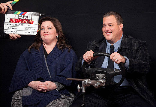 'Mike & Molly': Behind the scenes of Season 3: Melissa McCarthy and Billy Gardell