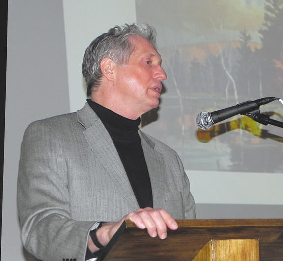 Philip Koch, an American landscape artist, was the guest speaker at the Jan. 10 monthly meeting of the Singer Society at Washington County Museum of Fine Arts.