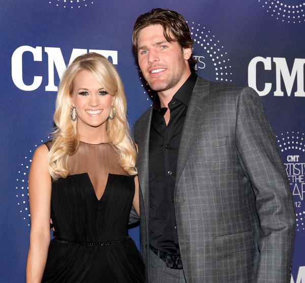 Carrie Underwood and her husband, Nashville Predators player Mike Fisher.