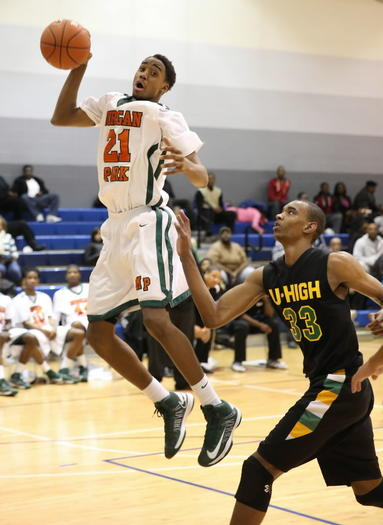 Josh Cunningham, left, and Morgan Park are ranked second this week and face No. 3 Simeon on Wednedsay.