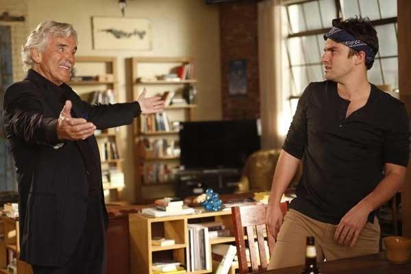 "A surprise visit from Nick's (Jake Johnson, right) father (Dennis Farina) shakes things up on a new episode of ""New Girl"" at 9 p.m. on Fox."