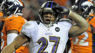 Despite the lack of a big play in the running game early in the third quarter, the Ravens kept pounding and pounding away at the Denver Broncos' front seven.