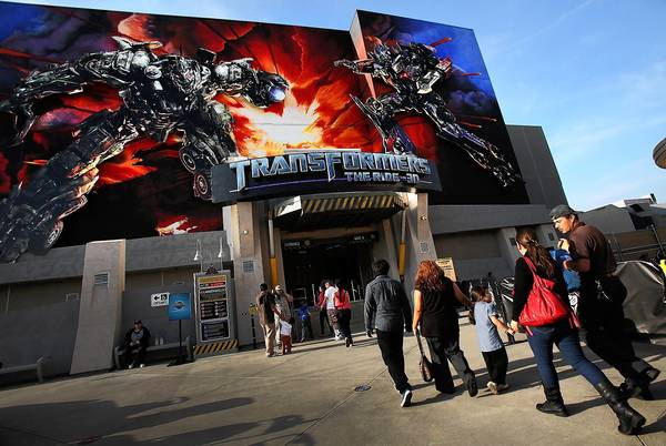 Universal Studios Hollywood's newest high-tech ride, Transformers: the Ride 3-D, which opened in May, helped L.A. attract a record number of visitors last year.